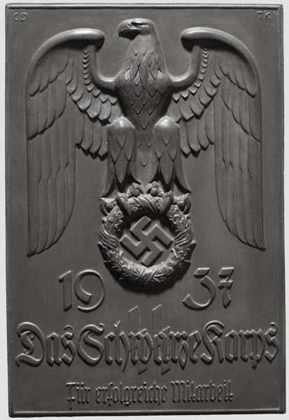 Наградная плакетка Das Schwarze Korps. Карл Дибич совместно с Теодором Кернером.