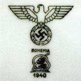 Клеймо Богемия на армейской посуде
