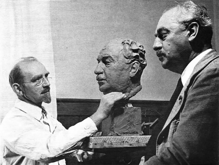 Вильгельм Нойзаузер и проф. Каспар Шмид, 1938