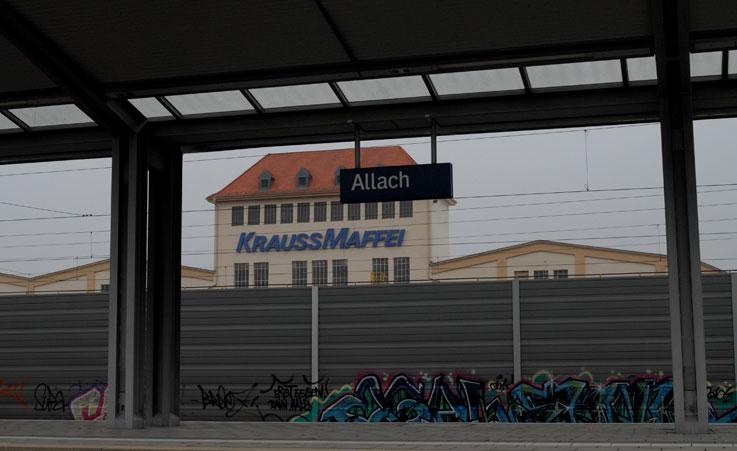 Станция Allach,  ноябрь 2011