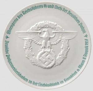 Призовая тарелка Allach полицейских соревнований 1937 года